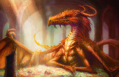 Smaug. Art by David Demaret